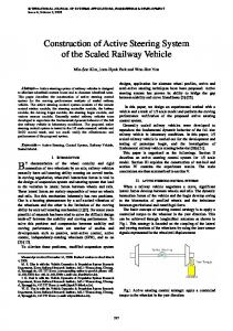 Construction of Active Steering System of the Scaled Railway Vehicle