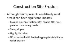 Construction Site Erosion