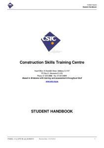 Construction Skills Training Centre