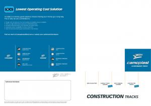 CONSTRUCTION Tracks LOCS. Lowest Operating Cost Solution