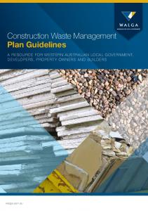 Construction Waste Management Plan Guidelines