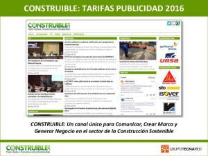 CONSTRUIBLE: TARIFAS PUBLICIDAD 2016