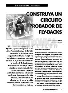 CONSTRUYA UN CIRCUITO PROBADOR DE FLY-BACKS