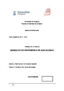 CONSULTA DE ENFERMERIA EN AUDIOLOGIA
