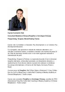 Consultant Metafizica Chineza (FengShui si Astrologie Chineza)