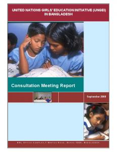 Consultation Meeting Report