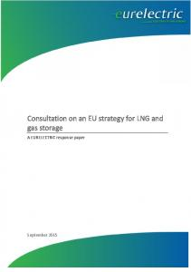 Consultation on an EU strategy for LNG and gas storage. A EURELECTRIC response paper