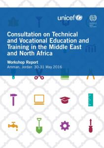 Consultation on Technical and Vocational Education and Training in the Middle East and North Africa