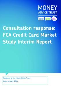 Consultation response: FCA Credit Card Market Study Interim Report