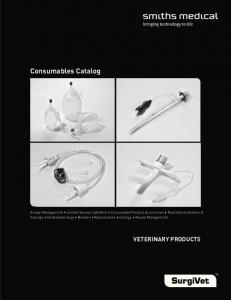 Consumables Catalog VETERINARY PRODUCTS