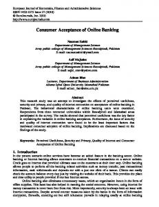 Consumer Acceptance of Online Banking
