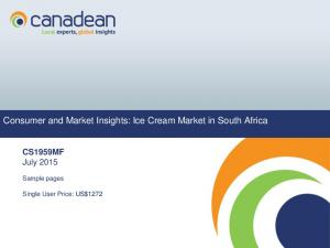 Consumer and Market Insights: Ice Cream Market in South Africa