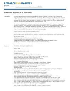 Consumer Appliances in Indonesia