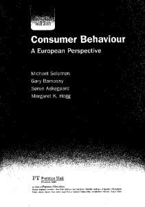 Consumer Behaviour. A European Perspective