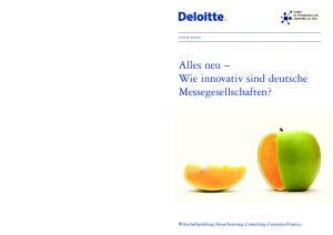 Consumer Business. Alles neu Wie innovativ sind deutsche Messegesellschaften?
