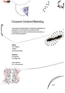 Consumer-Centered Marketing