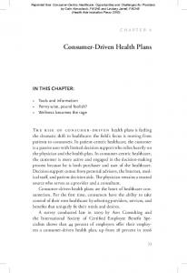 Consumer-Driven Health Plans