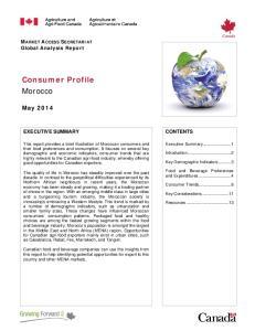 Consumer Profile Morocco