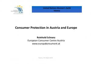 Consumer Protection in Austria and Europe