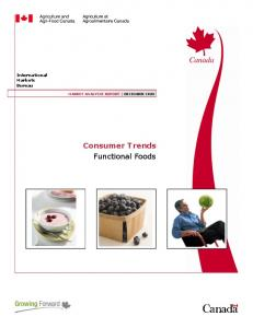 Consumer Trends Functional Foods
