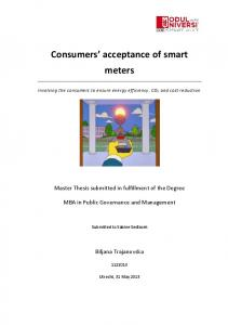 Consumers acceptance of smart meters