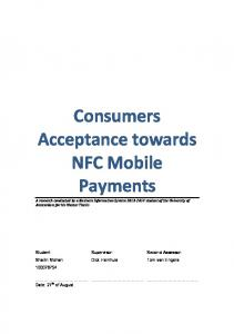 Consumers Acceptance towards NFC Mobile Payments