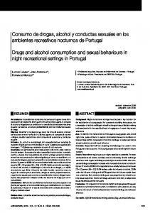 Consumo de drogas, alcohol y conductas sexuales en los ambientes recreativos nocturnos de Portugal