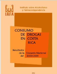 CONSUMO DE DROGAS EN COSTA RICA