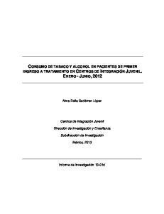 CONSUMO DE TABACO Y ALCOHOL EN PACIENTES DE PRIMER