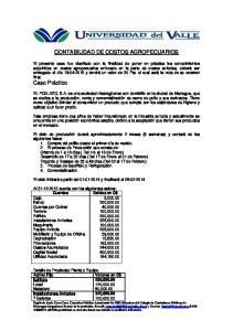CONTABILIDAD DE COSTOS AGROPECUARIOS