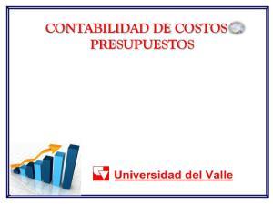 CONTABILIDAD DE COSTOS Y PRESUPUESTOS