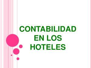 CONTABILIDAD EN LOS HOTELES