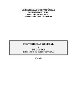 CONTABILIDAD GENERAL Y DE COSTOS PROF. RODRIGO GELDES REQUENA
