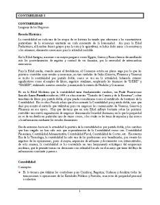 CONTABILIDAD I. CONTABILIDAD Lenguaje de los Negocios