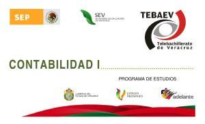 CONTABILIDAD I PROGRAMA DE ESTUDIOS