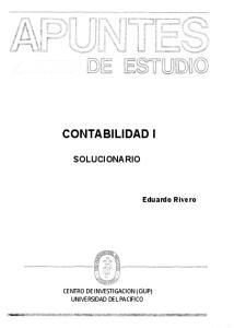 CONTABILIDAD I SOLUCIONARIO
