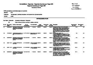 Contabilidad - Reportes - Reportes Cuentas por Pagar SRI Reporte Cuentas por Pagar SRI