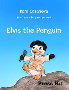 Contact Kara Casanova cell Elvis the Penguin on Facebook & Pintrest