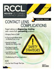 CONTACT LENS COMPLICATIONS SAFETY STRATEGIES REVIEW OF CORNEA & CONTACT LENSES