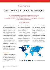 Contactores AF, un cambio de paradigma