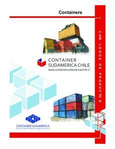 Containers C ATA L O G O S D E P R O D U C TO S