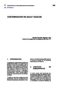 CONTAMINACION DE AGUA Y SUELOS