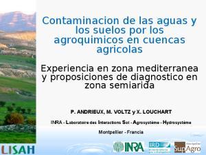 Contaminacion de las aguas y los suelos por los agroquimicos en cuencas agricolas