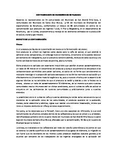 CONTAMINACION DE MUNICIPIOS DE RETALHULEU