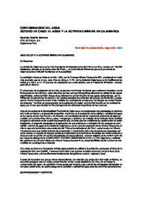 CONTAMINACION DEL AGUA ESTUDIO DE CASO: EL AGUA Y LA ACTIVIDAD MINERA EN CAJAMARCA