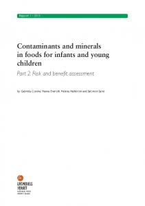 Contaminants and minerals in foods for infants and young children
