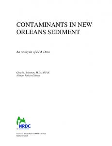 CONTAMINANTS IN NEW ORLEANS SEDIMENT