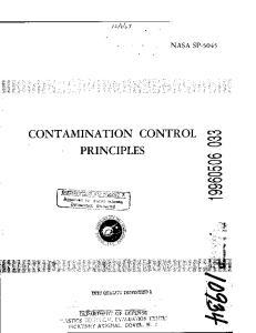 CONTAMINATION CONTROL PRINCIPLES