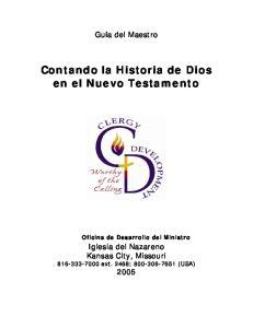 Contando la Historia de Dios en el Nuevo Testamento Oficina de Desarrollo del Ministro