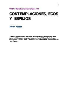 CONTEMPLACIONES, ECOS Y ESPEJOS